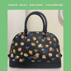 Coach Mini Sierra Satchel (Tea Rose Floral)